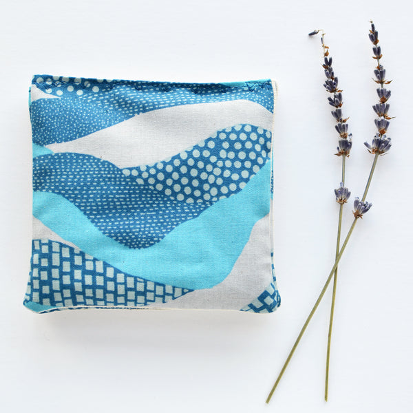 Organic Lavender Sachets in Land's End Blue - Set of 2