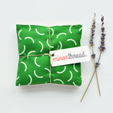 Organic Lavender Sachets in Tubular Kelly Green - Set of 2