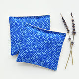Organic Lavender Sachets in Dot Blues - Set of 2