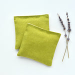 Set of 2 Organic Lavender Sachets in Pickle Linen