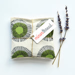 Organic Lavender Sachets - Seaside Daisy in Sage - Set of 2