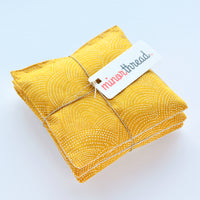 Set of 3 Lavender Sachet Bundle in Scallop Dot Gold