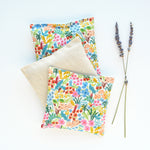 Set of 3 Organic Lavender Sachets in English Garden Cream