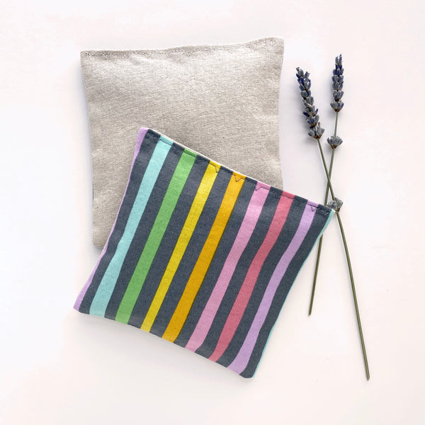 Lavender Sachets in Pastel Rainbow  - Set of 2