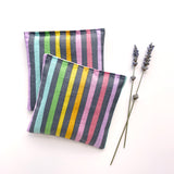 Organic Lavender Sachets in Pastel Rainbow  - Set of 2