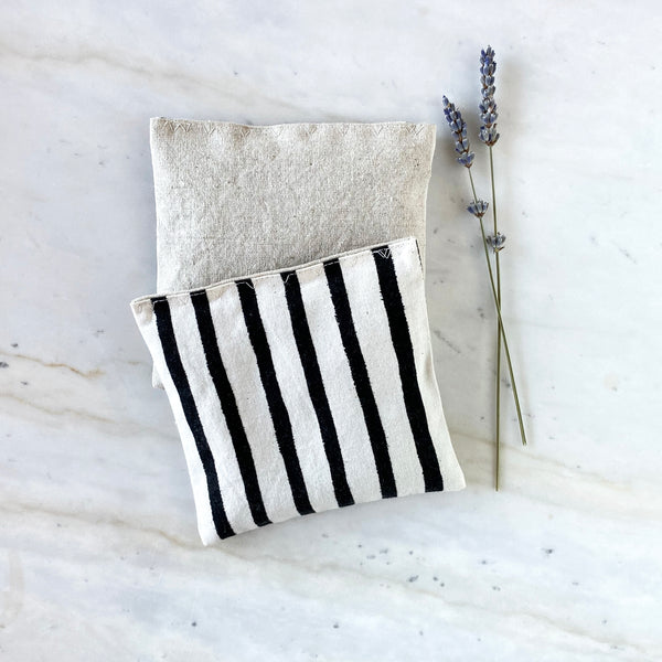 Lavender Sachets in Painted Lines - Set of 2