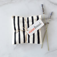 Organic Lavender Sachets in Painted Lines - Set of 2