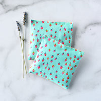 Organic Lavender Sachets in Strawberries on Mint - Set of 2