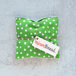 Lavender Sachets in Green Dots - Set of 2