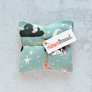 Organic Lavender Sachets - Starry Playground in Stormy - Set of 2