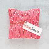 Organic Lavender Sachets - Coral Tiny Tulips - Set of 2