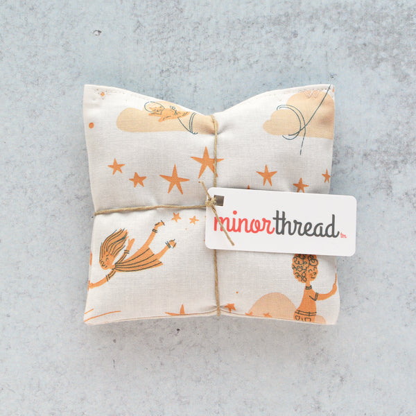 Organic Lavender Sachets - Starry Playground in Peach - Set of 2