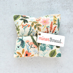 Organic Lavender Sachets - Amalfi Floral in Natural Set of 2