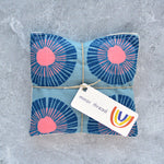 Organic Lavender Sachets - Seaside Daisy in Blue - Set of 2