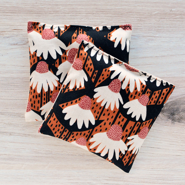 Organic Lavender Sachets in Terracotta Floral - Set of 2