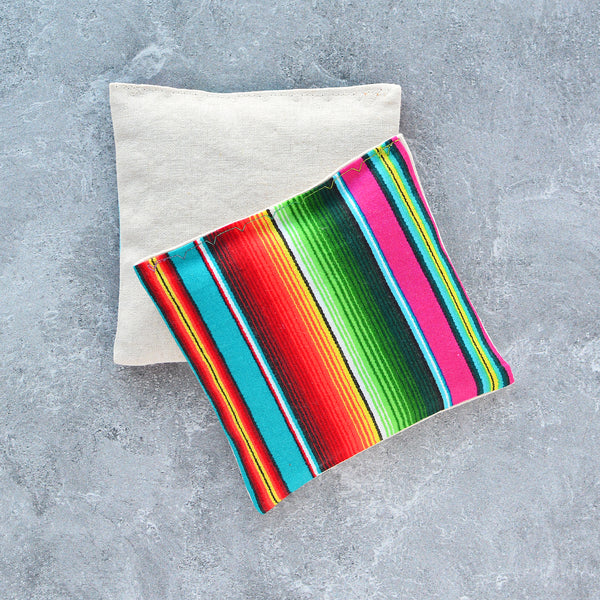 Organic Lavender Sachets in Neon Rainbow Serape Cotton - Set of 2