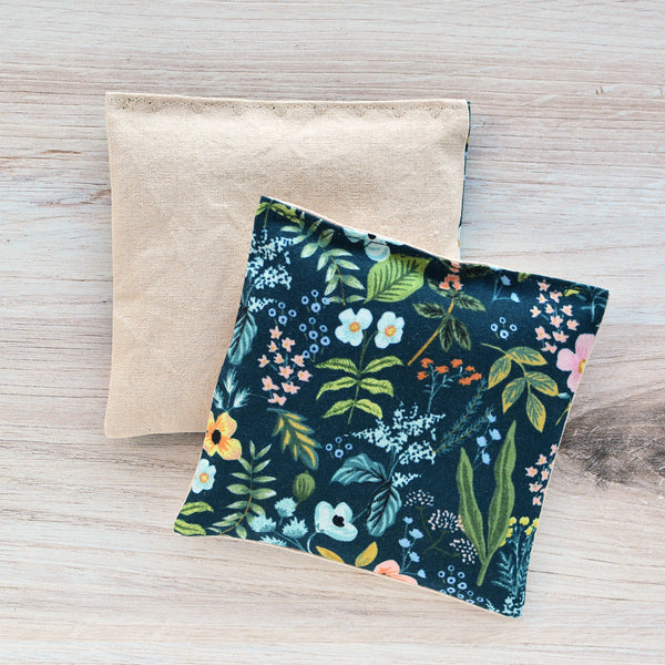 Organic Lavender Sachets - Amalfi Floral in Navy Set of 2