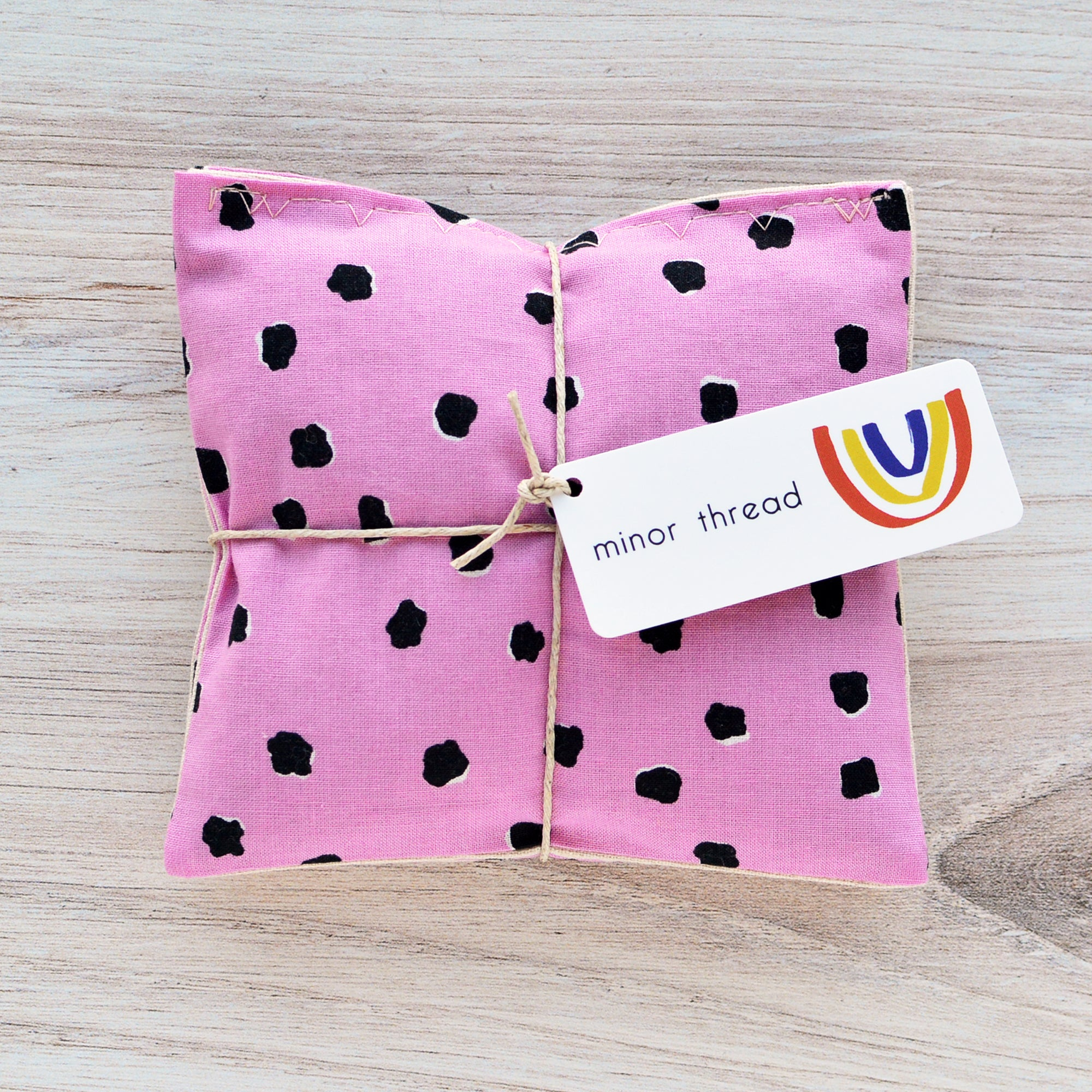 Organic Lavender Sachets - Mystery Fur in Pink Set of 2