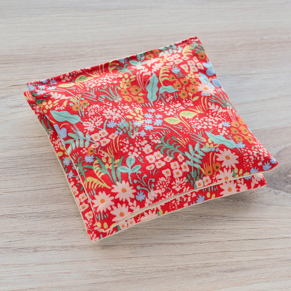 Organic Lavender Sachets - Meadow in Red - Set of 2