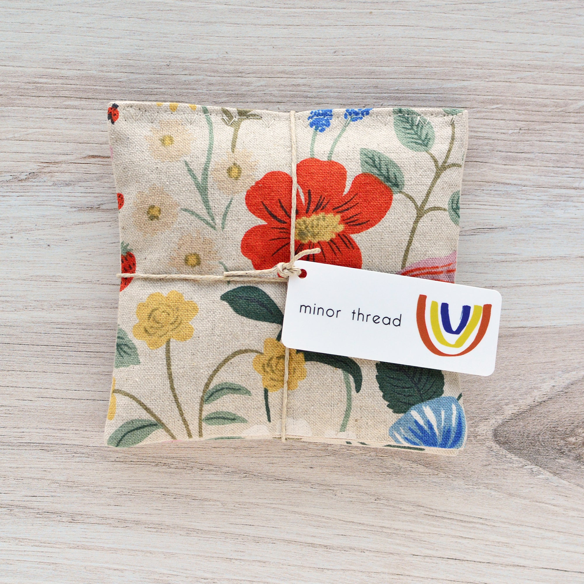 Organic Lavender Sachets - Strawberry Fields Canvas Set of 2
