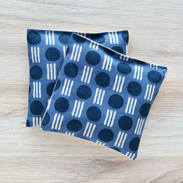 Organic Lavender Sachets - Dots & Lines Navy - Set of 2