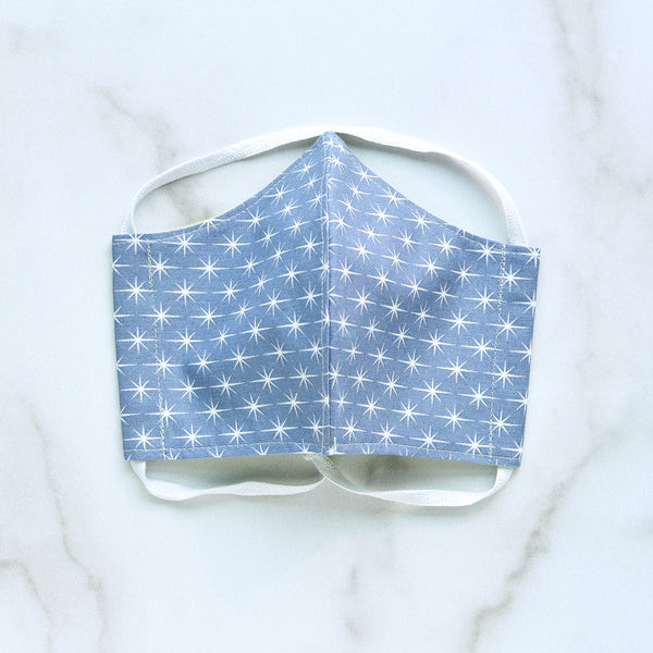 Cotton Face Mask - Slate Starburst - Choose Your Size