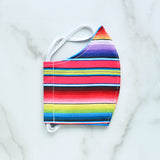 Cotton Face Mask - Rainbow Serape - Choose Your Size