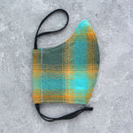 Cotton Face Mask - Lagoon Flannel - Choose Your Size