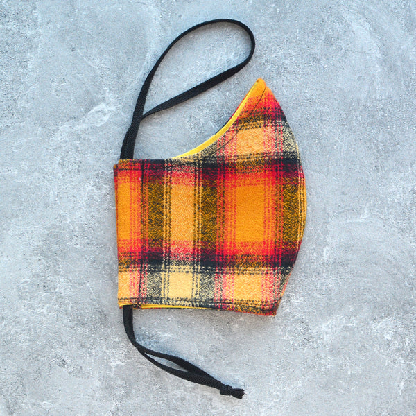 Cotton Face Mask - Cayenne Flannel - Choose Your Size