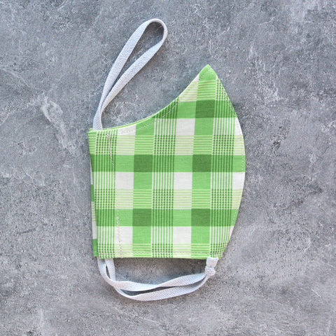 Grass Green Plaid Face Mask - Choose Your Size
