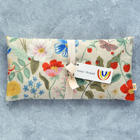 Strawberry Fields Linen Oversized Eye Pillow in Natural