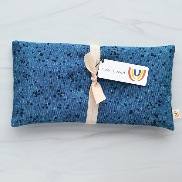 Confetti Peacock Linen Oversized Eye Pillow