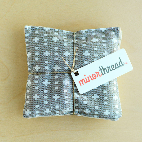Organic Lavender Sachet Set in Grey Plus and Linen Sachets