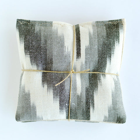 Shades of Grey Ikat Cotton and Linen Organic Lavender Sachets