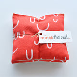 Organic Lavender Sachets in Arroyo AOU in Tomato Red and Natural Linen Set of 2