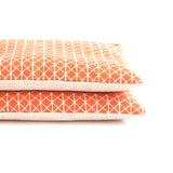 Geometric Orange & Linen Organic Lavender Sachet Set