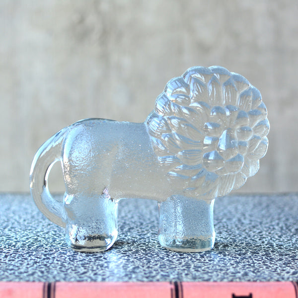 Small Glass Lion Figurine Kosta Boda