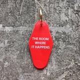 The Room Where It Happens Hotel Key Fob in Red