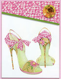 Head Over Heels Gingham Stiletto Purse Postable