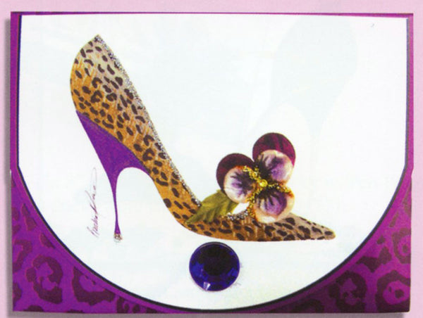 Head Over Heels Violet Stiletto Purse Pad