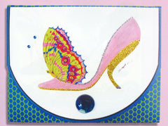 Head Over Heels Butterfly Stiletto Purse Pad