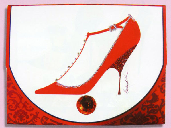 Head Over Heels Red Stiletto Purse Pad