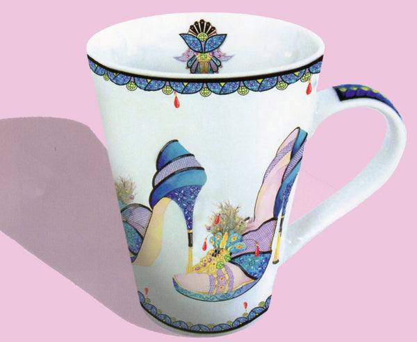 Stiletto shoe coffee mug. Stiletto shoe mugs for shoe lovers.