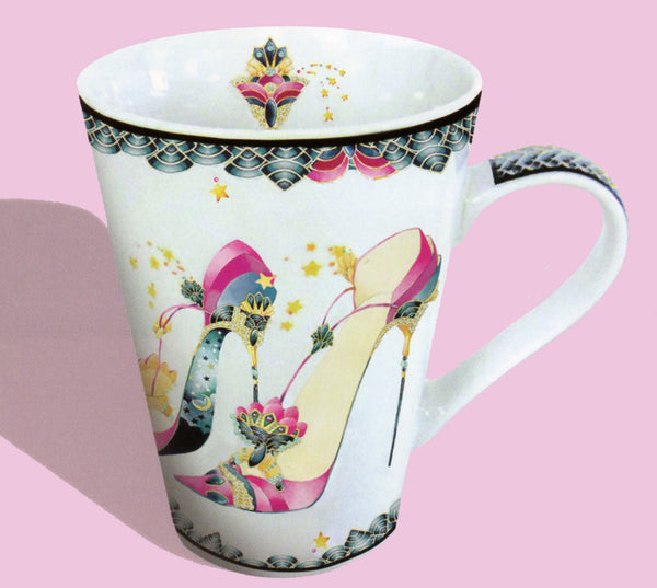 Stiletto shoe coffee mugs. Stiletto shoe mugs for shoe lovers.