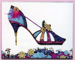 Head Over Heels Floral Stiletto Sticky Notes