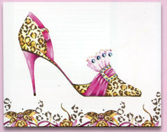 Head Over Heels Cheetah Stiletto Sticky Notes