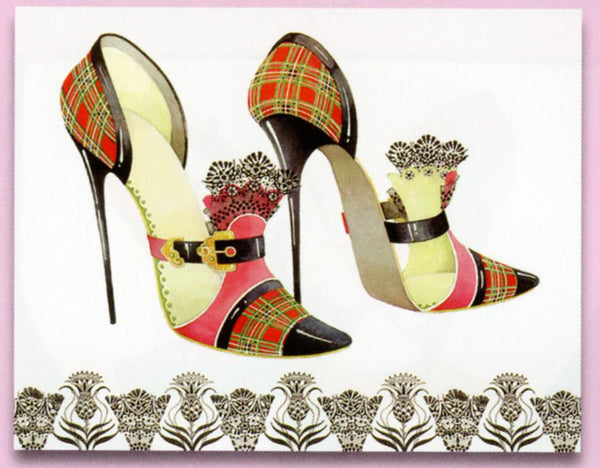 Head Over Heels Plaid Stiletto Sticky Notes