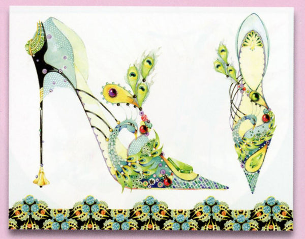Head Over Heels Peacock Stiletto Sticky Notes