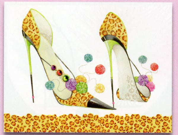 Head Over Heels Leopard Stiletto Sticky Notes