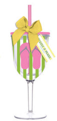 Flip Flops Acrylic Wine Glass